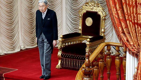 Cesarz Japonii Akihito podczas sesji parlamentarnej w Tokio - Sputnik Polska