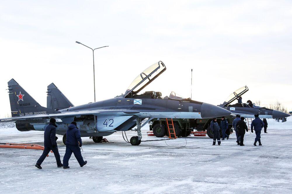 Ćwiczenia MiGów-29K