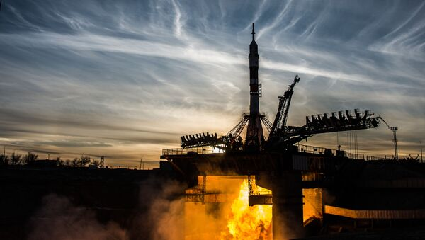 Start rakiety nośnej Sojuz-FG ze statkiem załogowym Sojuz MS-11 z kosmodromu Bajkonur - Sputnik Polska