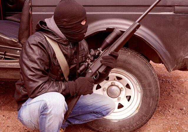 Uzbrojony człowiek
