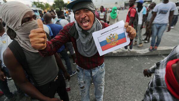 Antyrządowe protesty na Haiti. - Sputnik Polska