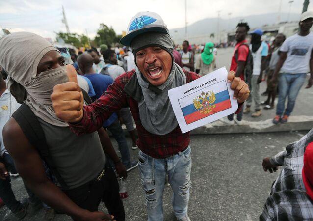 Antyrządowe protesty na Haiti.