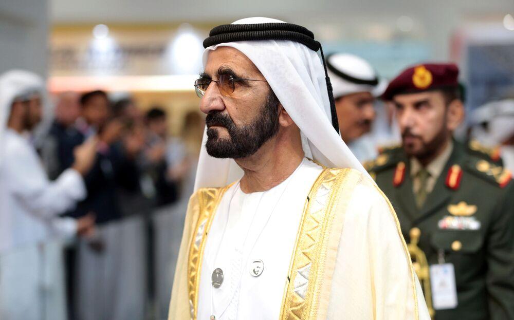 Emir Dubaju Muhammad ibn Raszid Al Maktum na targach IDEX-2019