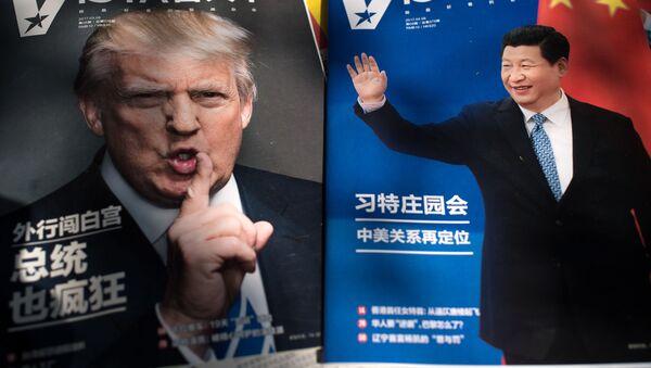 Trump i Xi Jinping na okładce czasopisma, Chiny - Sputnik Polska