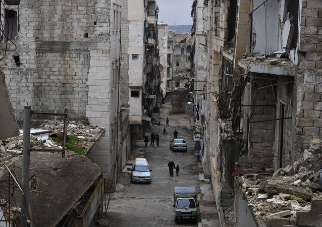 Życie w zrujnowanych rejonach syryjskiego Aleppo