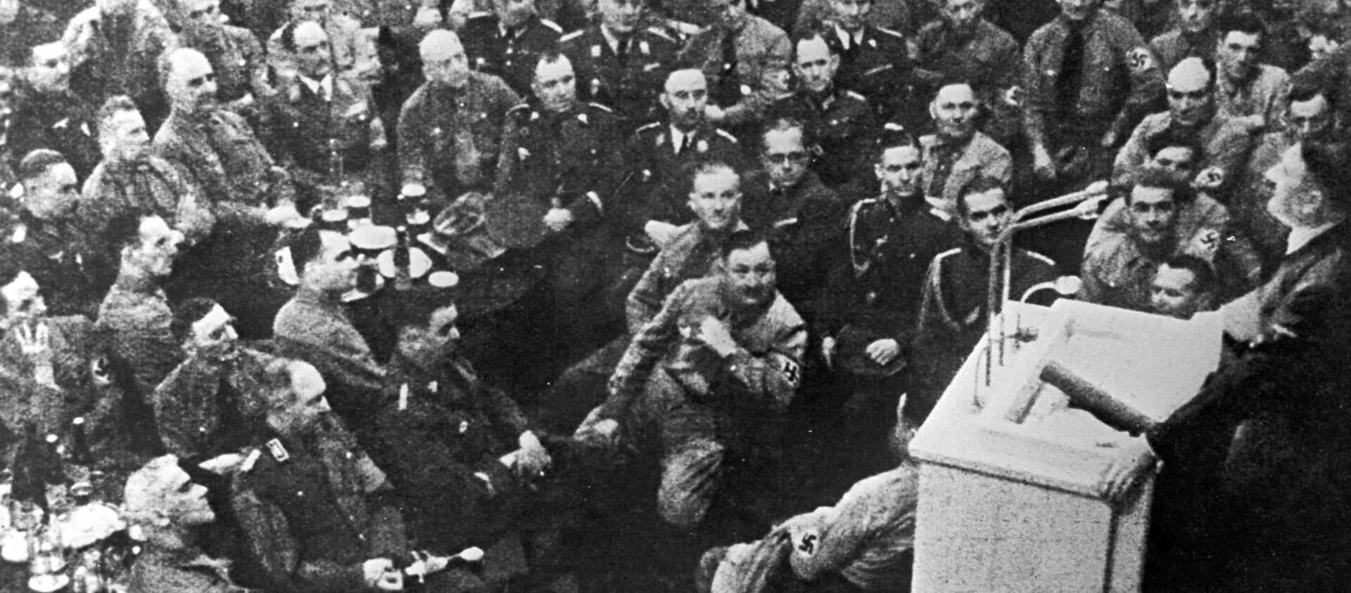 Przemówienie na zebraniu oficerskim Führera Adolfa Hitlera - Sputnik Polska, 1920, 23.01.2020