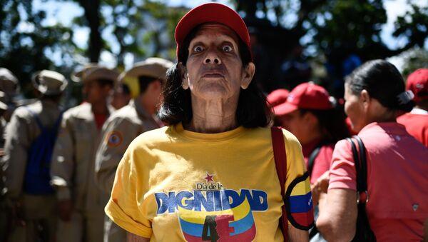 Mieszkanka Wenezueli na placu w Caracas - Sputnik Polska