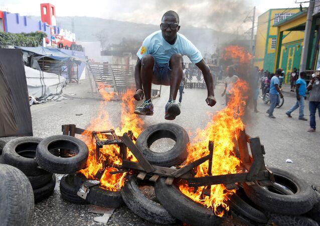 Protesty na Haiti