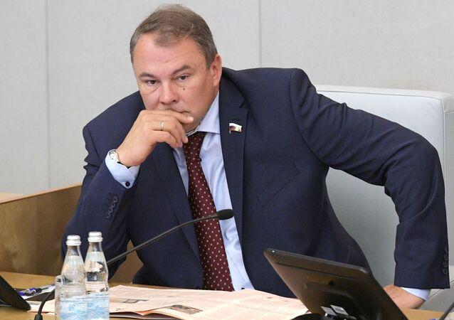 Wiceprzewodniczący Dumy Państwowej Federacji Rosyjskiej Piotr Tołstoj