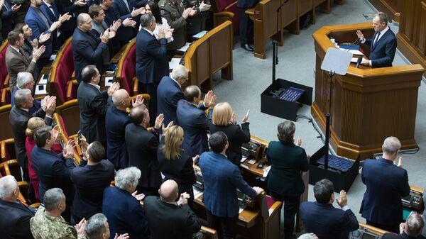 Donald Tusk. Kijów, Rada Najwyższa. Ukraina. - Sputnik Polska