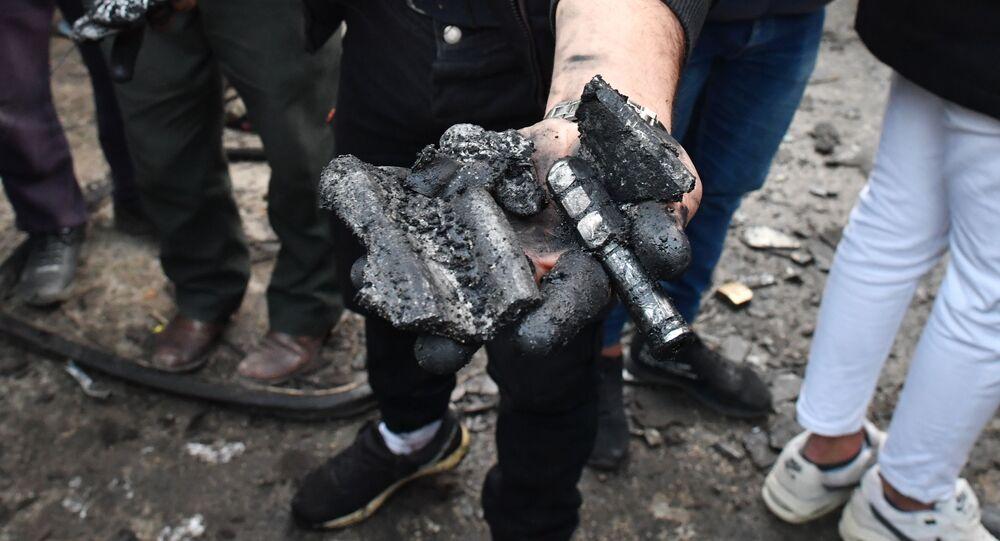 Na miejscu wybuchu zaminowanego samochodu w Latakii