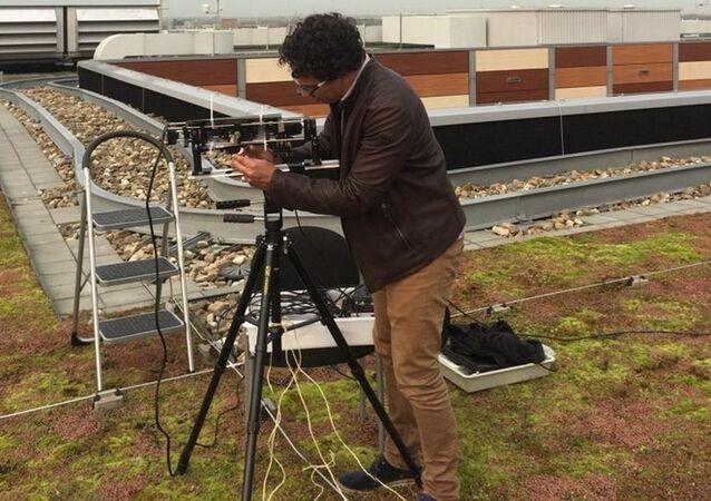 Prototypowy spektropolarymetru TreePol zaprojektowanego do wykrywania roślinności na innych planetach