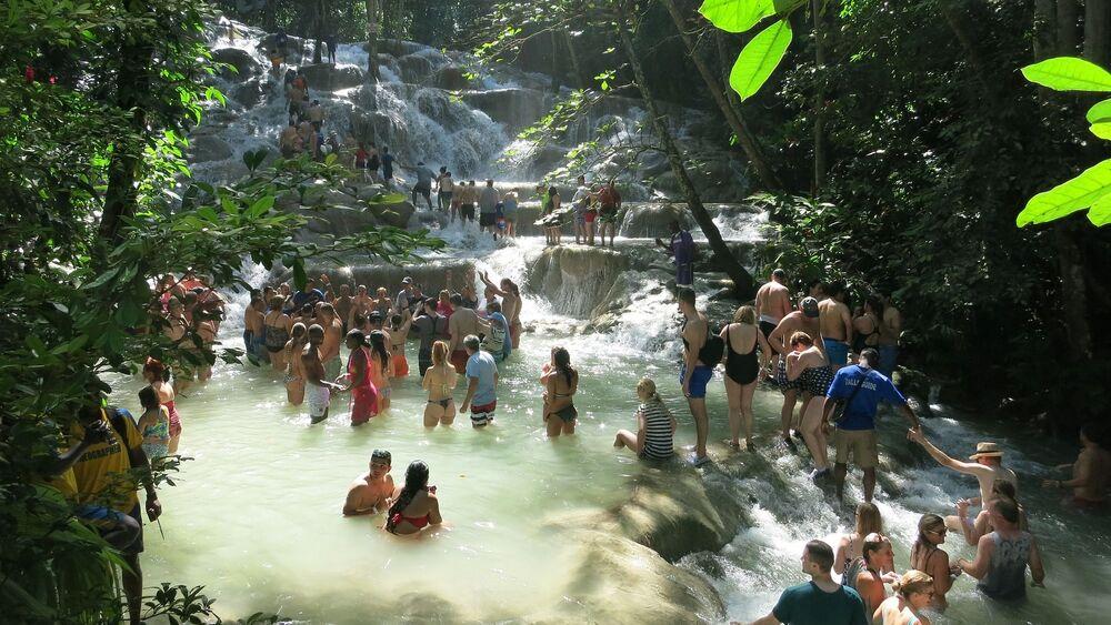 Wodospady na rzece Dunn, Jamajka