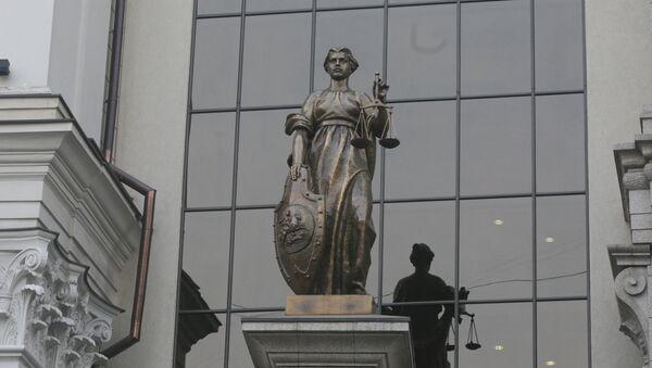 Rzeźba Temidy na fasadzie Sądu Najwyższego Federacji Rosyjskiej w Moskwie - Sputnik Polska