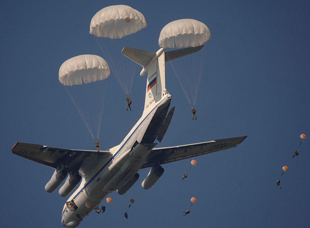 Ćwiczenia wojsk powietrznodesantowych w obwodzie riazańskim