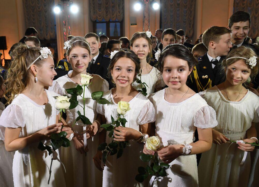Bal Kadetów w Domu Paszkowa w Moskwie
