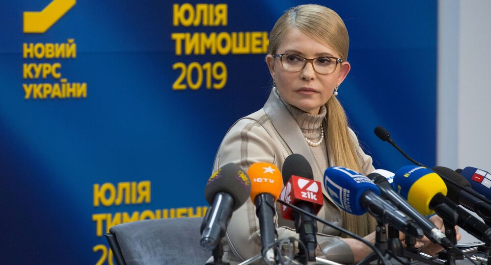 Kandydat na prezydenta Ukrainy, lider ogólnoukraińskiego stowarzyszenia Batkiwszczyna, Julia Tymoszenko