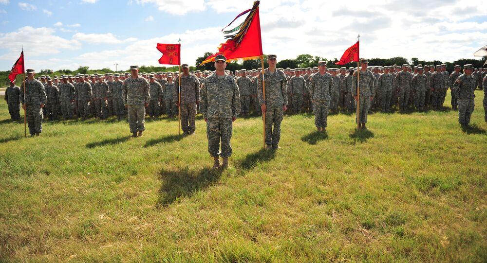Żołnierze amerykańskiej armii w bazie wojskowej Fort Hood w Teksasie