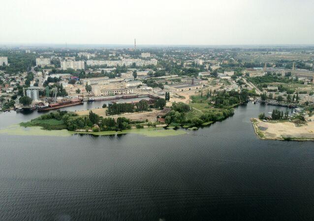 Widok na obwód chersoński, Ukraina