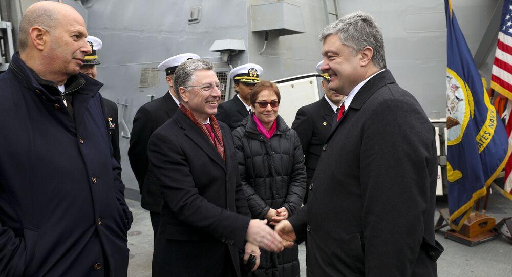 Petro Poroszenko na pokładzie USS Donald Cook