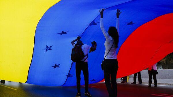 Antyrządowa demonstracja w Caracas, Wenezuela - Sputnik Polska