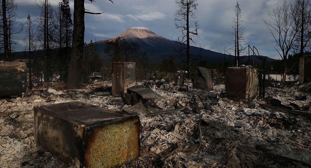 Stratowulkan Shasta w stanie Kalifornia