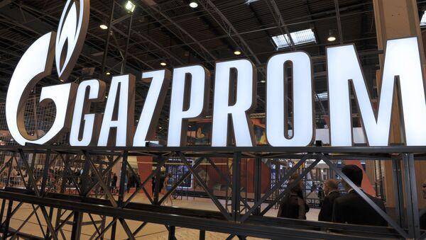 Logotyp spółki Gazprom - Sputnik Polska