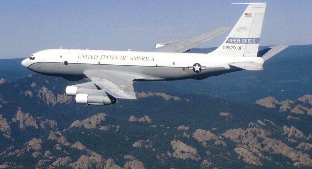 Samolot zwiadowczy Sił Powietrznych USA Boeing OC-135B Open Skies. Zdjęcie archiwalne