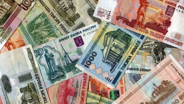 Banknoty Rosji i Białorusi - Sputnik Polska