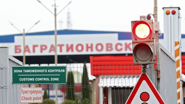 Przejście graniczne Bagrationowsk w obwodzie kaliningradzkim na rosyjsko-polskiej granicy - Sputnik Polska