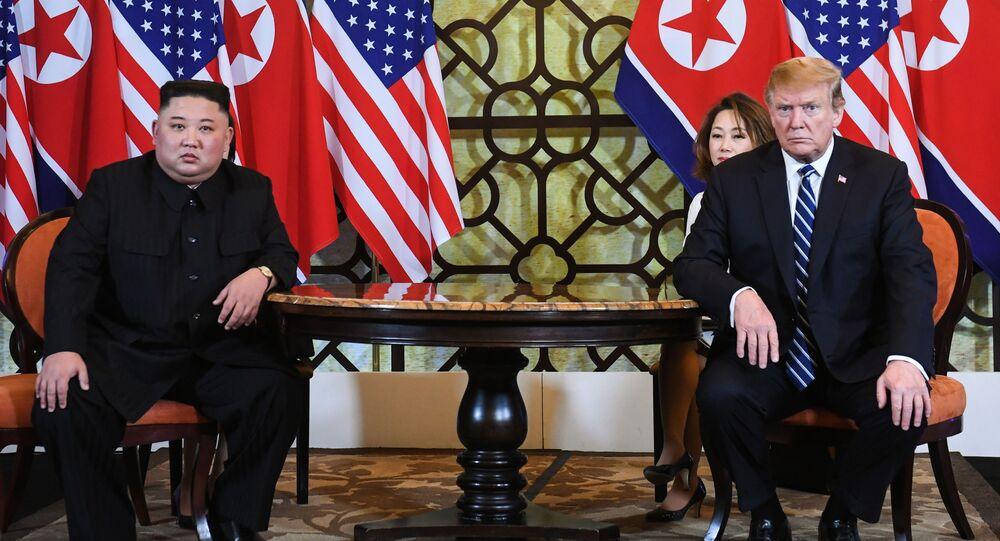 przywódca Korei Północnej Kim Dzong Un i prezydent USA Donald Trump
