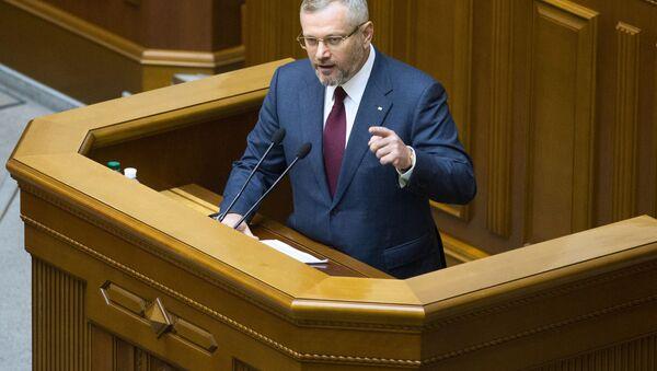 Kandydat na prezydenta Ukrainy Bloku Opozycyjnego - Partii Pokoju i Rozwoju Ołeksandr Wiłkuł - Sputnik Polska