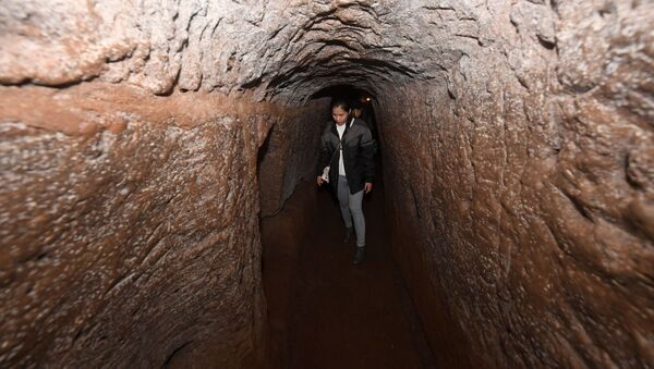 Tunele podziemne, zbudowane podczas wojny w Wietnamie - Sputnik Polska