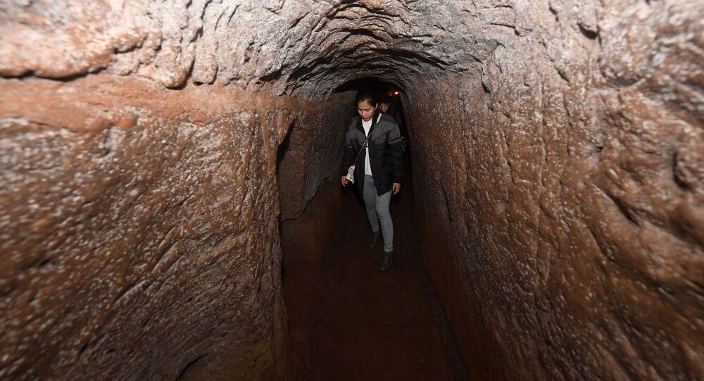 Tunele podziemne, zbudowane podczas wojny w Wietnamie