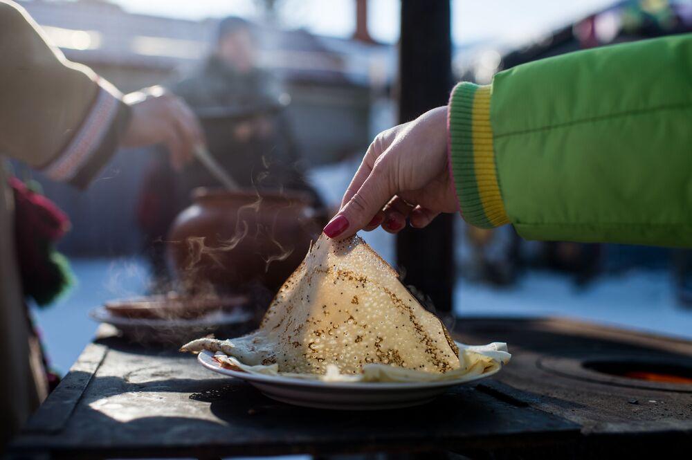 Bliny przygotowane w Maslenicę