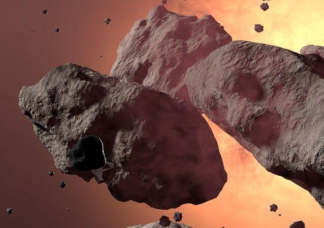 Asteroidy w kosmosie